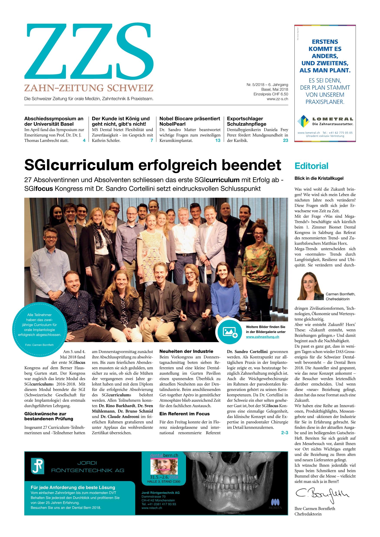 ZZS 05/2018 - Zahn Zeitung Schweiz